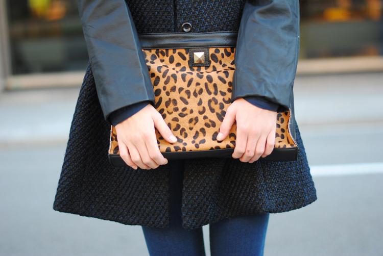 leopard clutch, suiteblanco, zina, street style