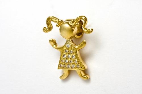 Pingente+Maria+grande+ouro+amarelo+18k+com+vestido+de+diamantes+R+1.330003